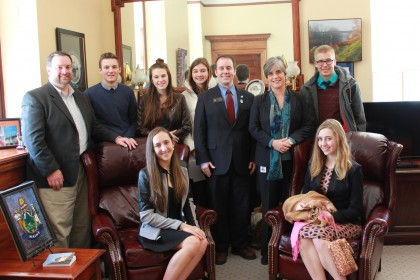 Sens. Breen and Brakey with GNG students