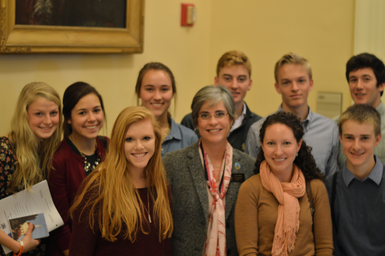 Senator Breen with members of the Falmouth High School Civics Club