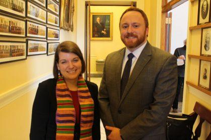 Sen. Libby with Reverend Longsdorf
