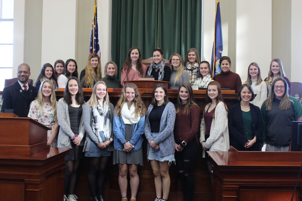 State Champion Winthrop Field Hockey team honored at the State House