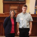 Farmingdale student serves as Honorary Page in the Maine Senate