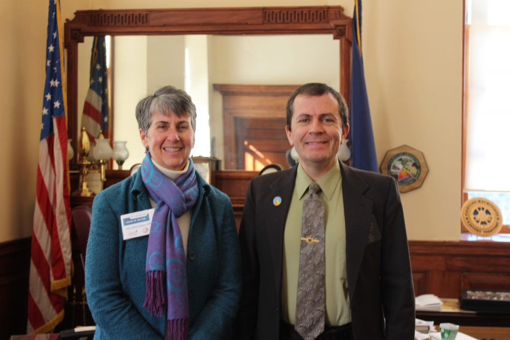 "Sen. Chipman welcomes local ""Doctor of the Day"" to the Maine Senate"